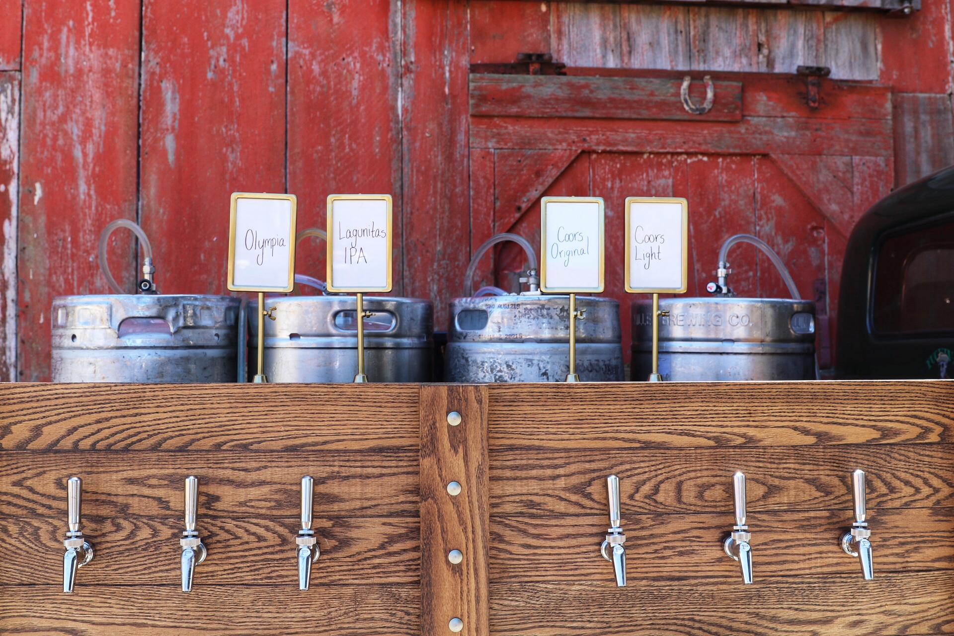 Mean Joe Draft Truck Kegs and Menus