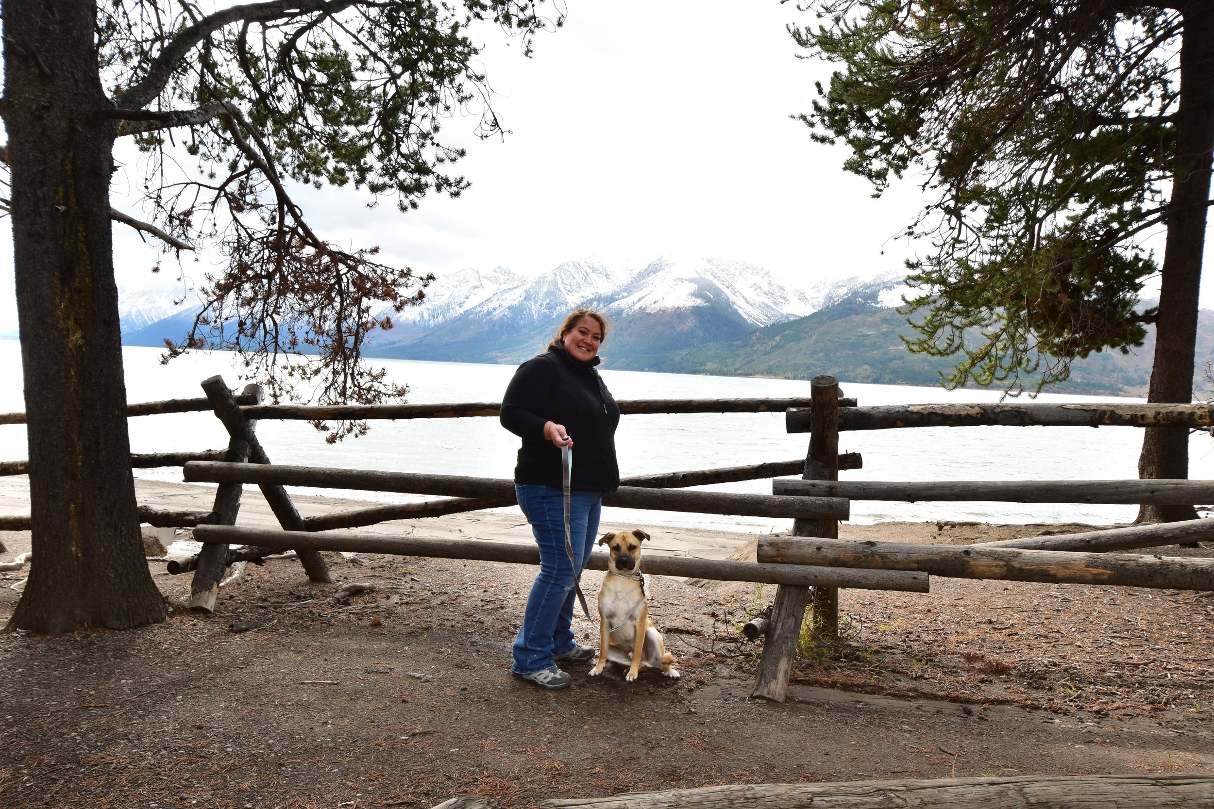 Me and Chance at Grand Tetons National Park in Wyoming