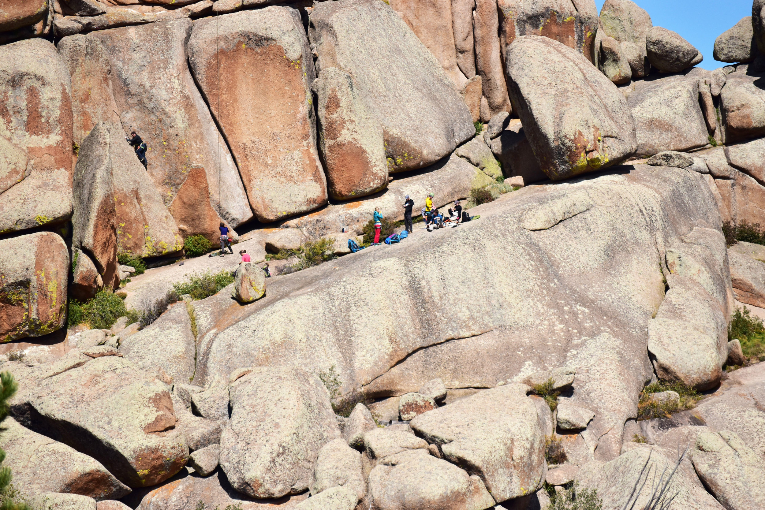 Vedauwoo is known for the challenging rocks - a climbers dream!
