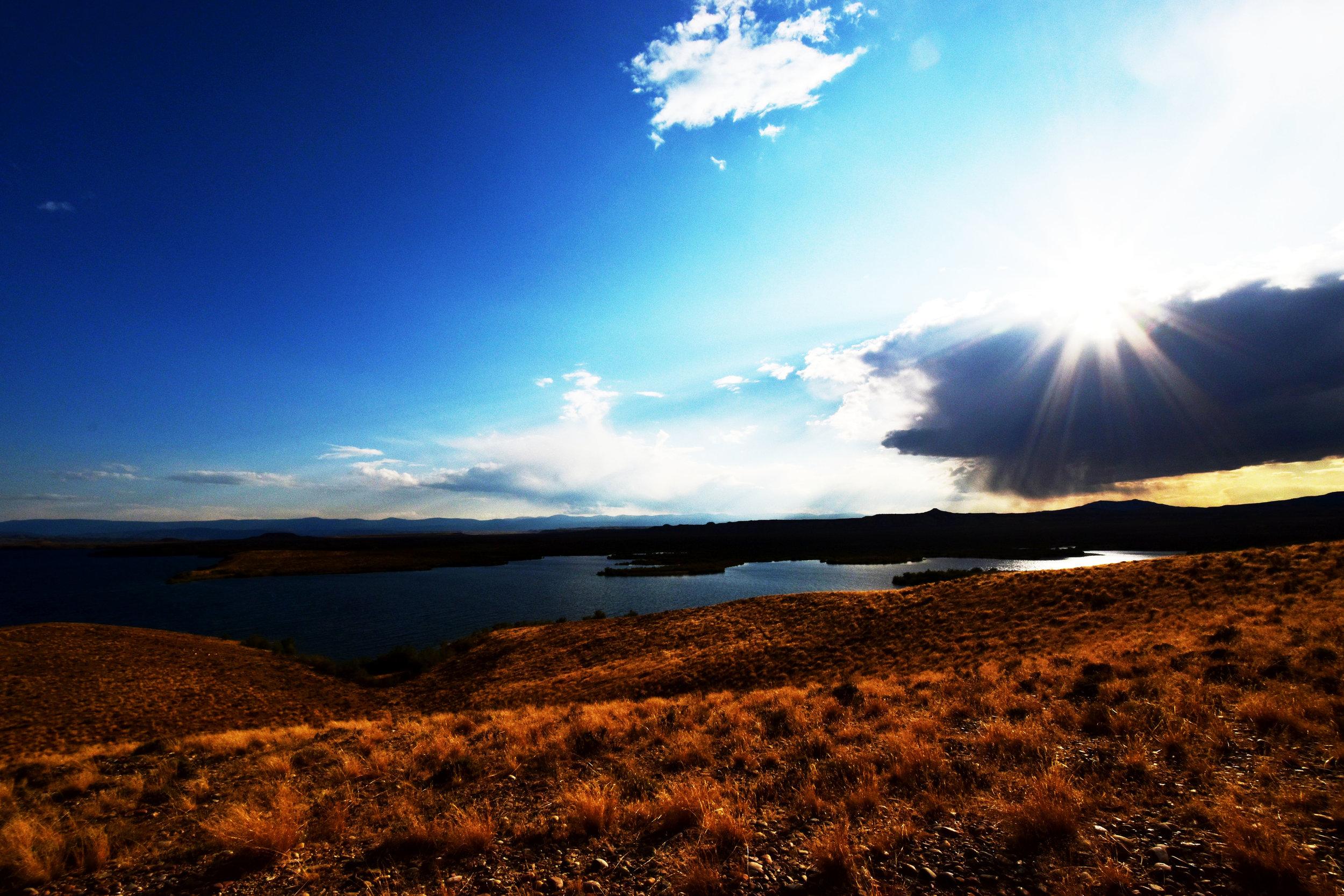 Sun on Flaming Gorge.jpg