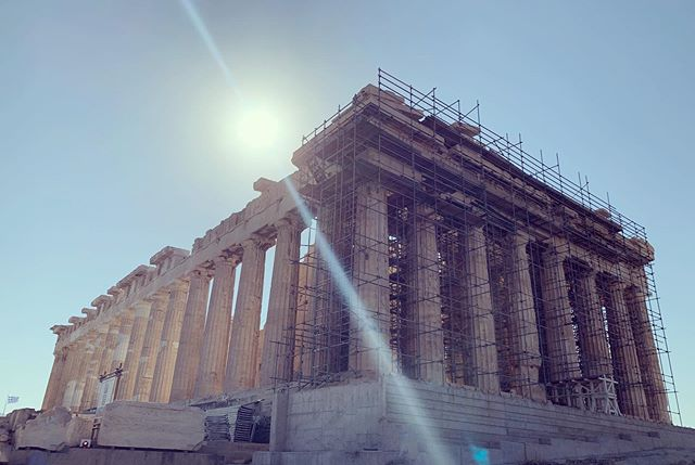 The Parthenon. #acropolis #athena #parthenon #greek #goddess #greece #athens #athenian #temple #historical #ancient #architecture #greektemple #travel #history #placestosee