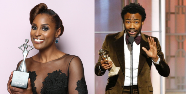 Issa Rae and Donald Glover (Credit  Essence and NBC)