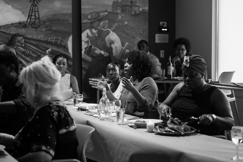 Tunde Wey,  Blackness in America  Dinner Series, Austin, TX,  2016.