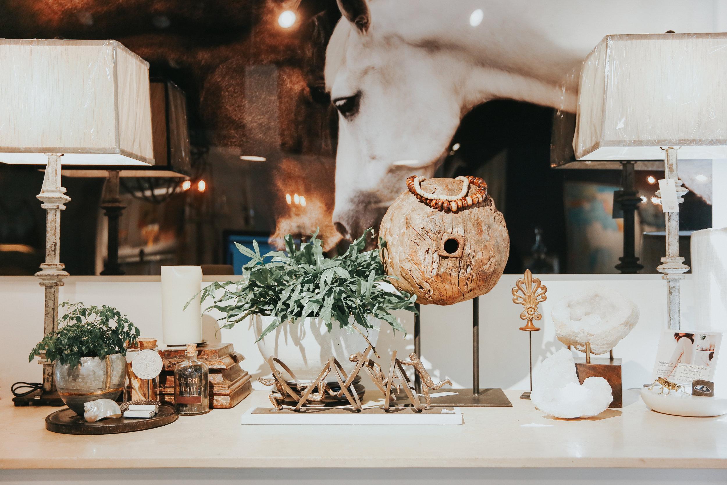 Boutique home decor items