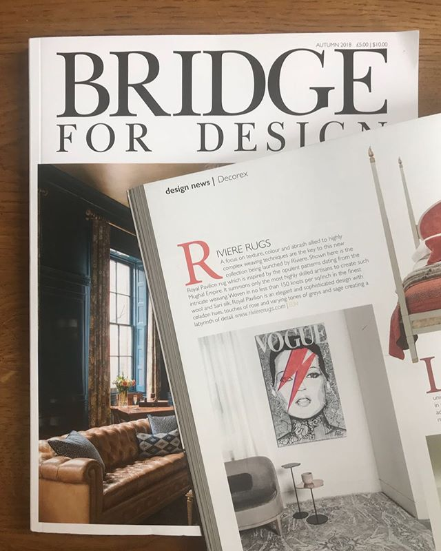 Thank you @riviererugs at @decorex_international and @bridgefordesign ! Great article featuring @arte_mea @stevenpayne4 #project @shock_london and @endlessartist #artwork 🎨🔝 Kate in Vogue artwork is available, DM for info. 🙏🏻 #magazine #collaboration #design #interiors