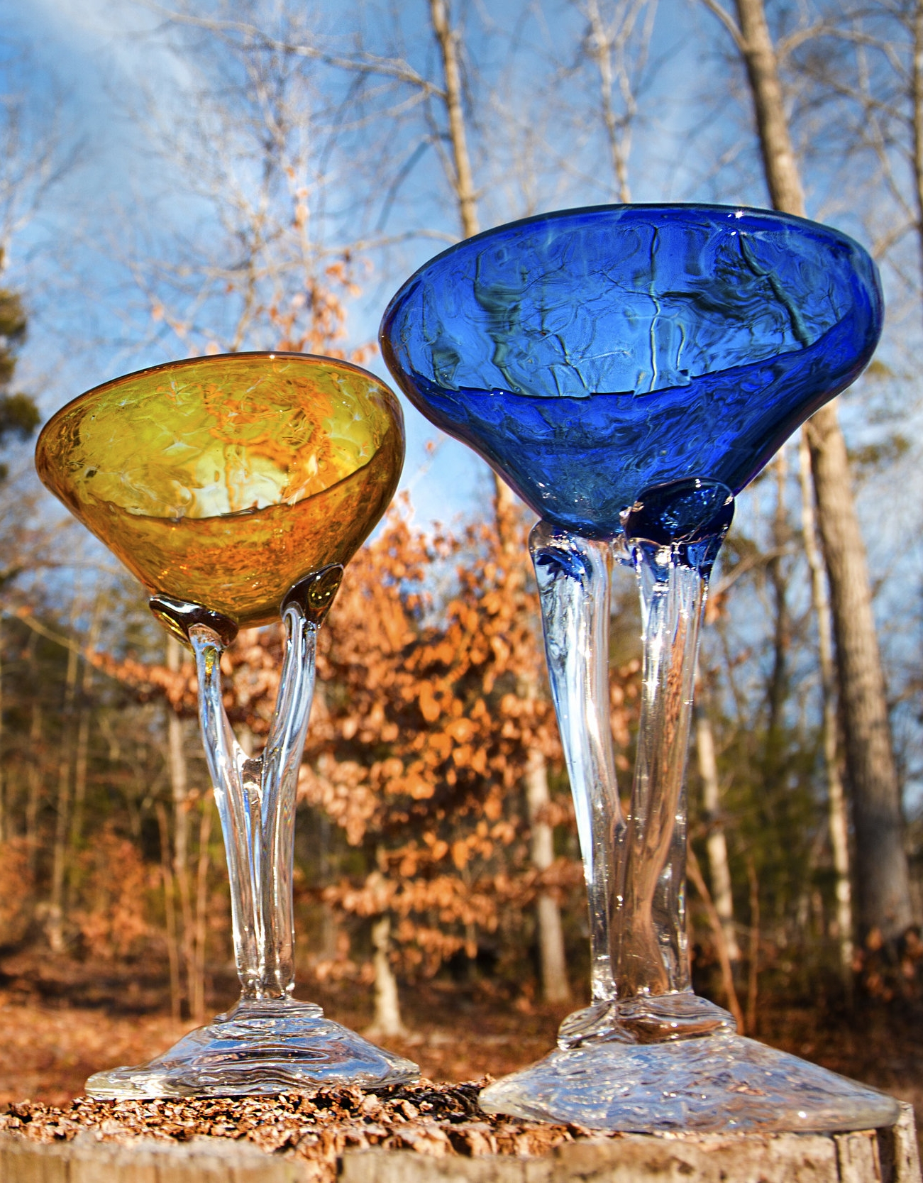 STEM - These leggy stems are the perfect vehicle for a dirty martini or refreshing margarita. Just add a cool patio, a few good friends, and you're good to go. Available in a variety of colors, both opaque & translucent.Approximately 5″ D x 8 1/2″H97.00 + Shipping