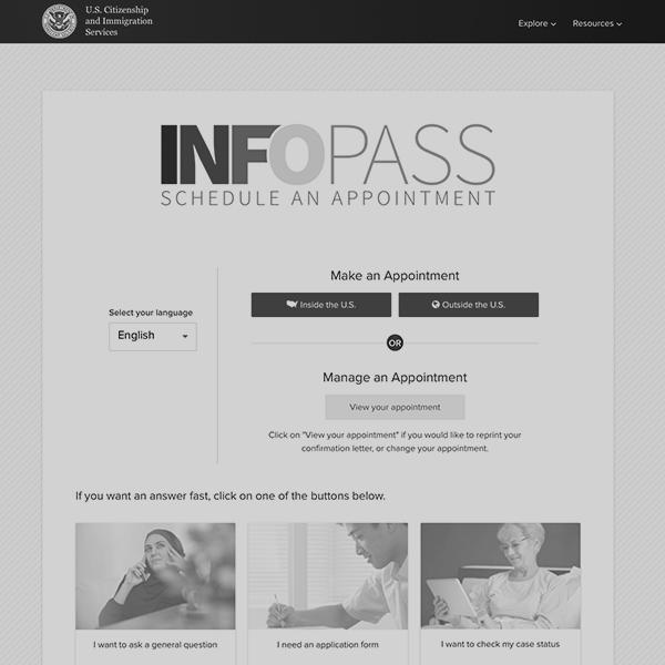 Schedule an Infopass appointment