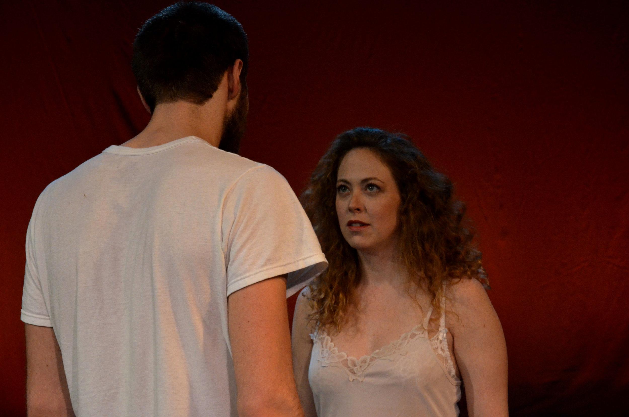 Photo: Brianna Digioia   Dalton Gray (Julian); Mara Gannon (Ro) Off-Broadway world premiere  Theater for the New City  (NYC)