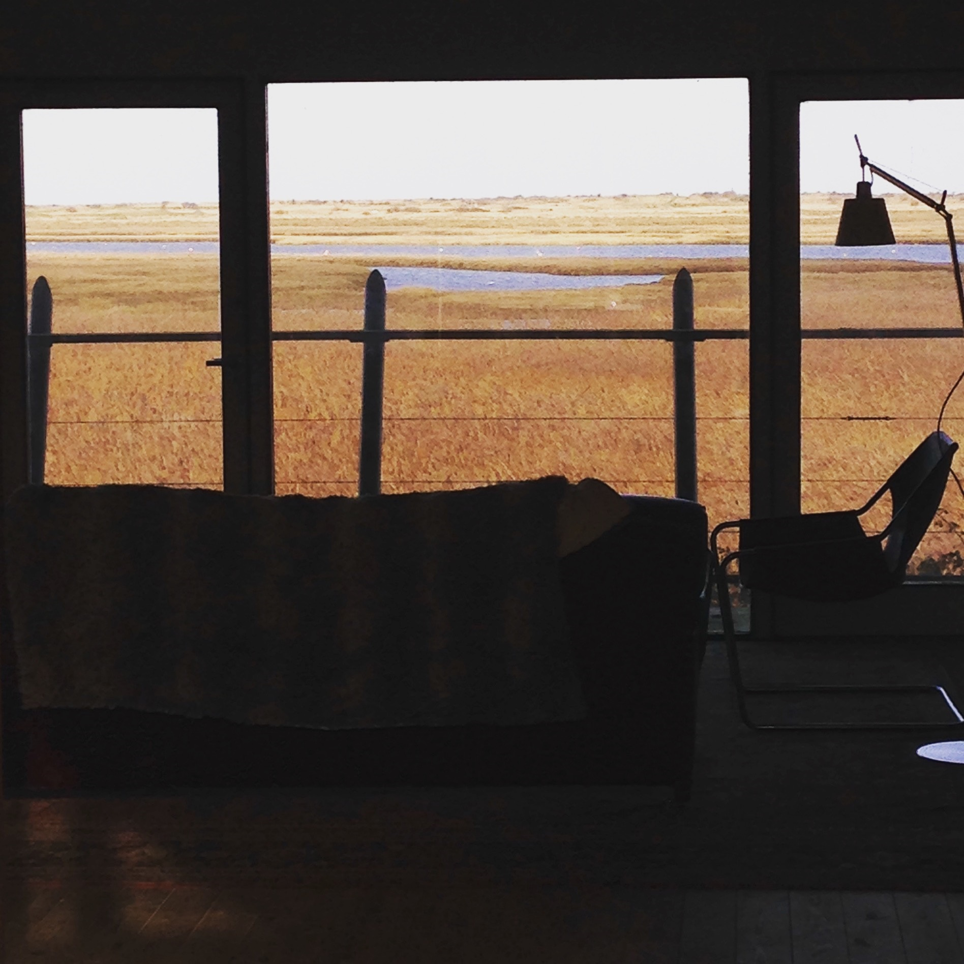 view on the salt marshes, Brancaster Staithe