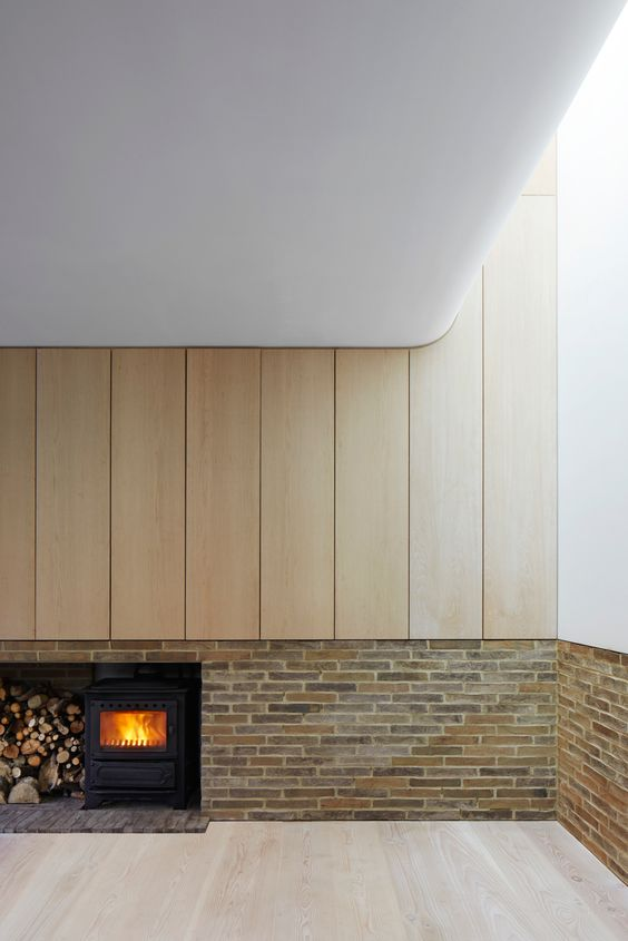 Curved edged ceilings allow an easier passage for natural light to enter the space from rooflights