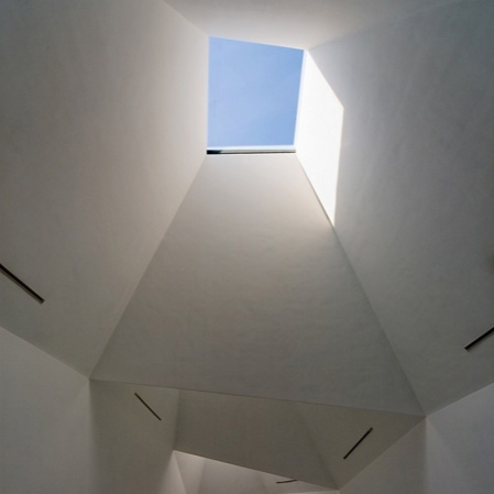 Place rooflights where you can to encourage light into the volume.