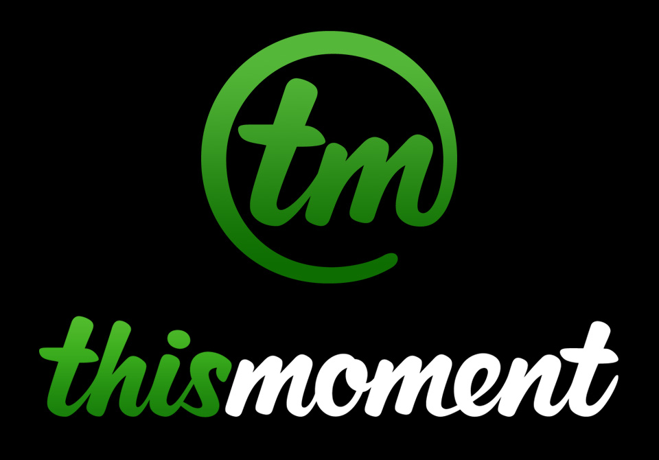 TM Branding - As the Creative Director, I got a chance to create the branding for Thismoment, Inc. We decided that the look should have a fun and organic feel so naturally, I gravitated towards creating a custom script for the logo. The original logo was an