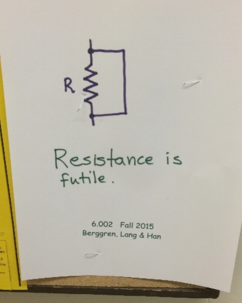 Advertisement for a freshman circuits course, 6.002, at MIT.