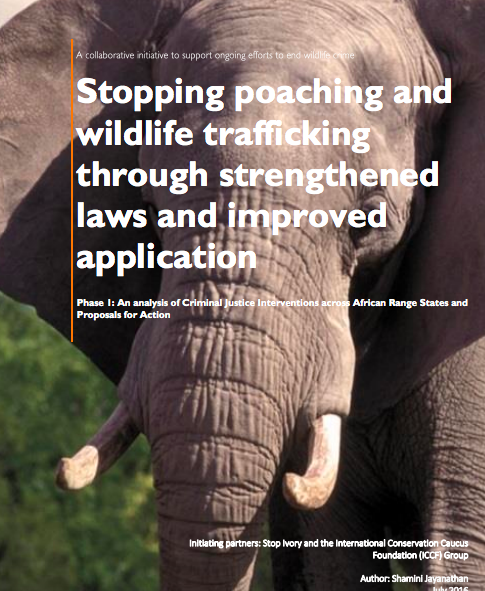 ICCF Stop Ivory Report Stopping Poaching and Wildlife Trafficking