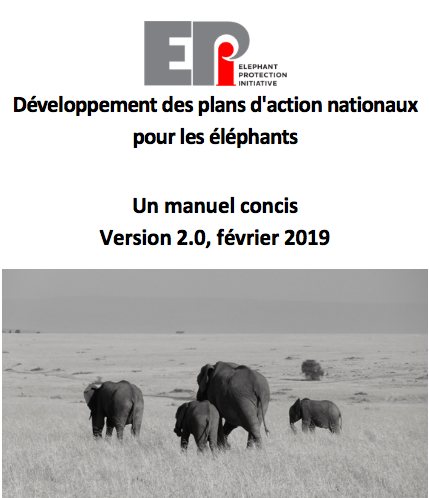 Développement des plans d'action nationaux pour les éléphants: Un manuel concis