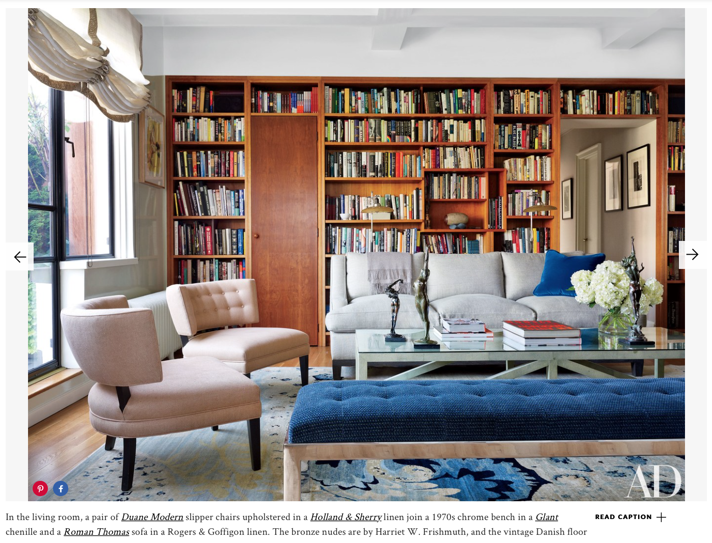 Jay McInerney and Anne Hearst's New York penthouse living room Photo by Joshua McHugh Article by Christopher Mason