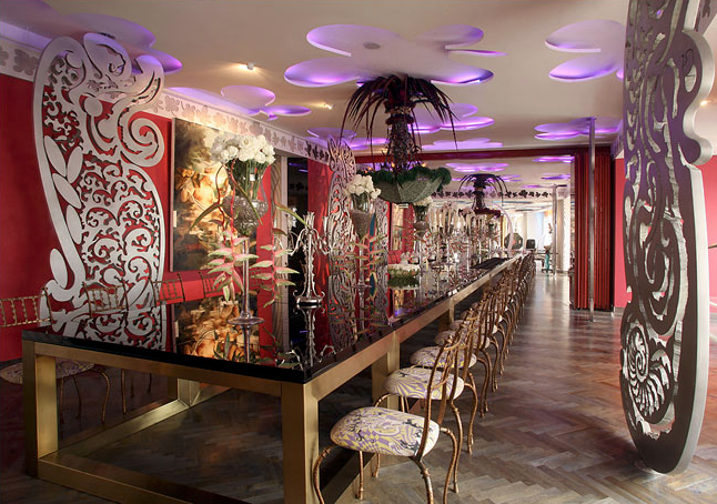 Pearl Lam designed the 52-foot dining table. Credit: Doug Kanter for The New York Times
