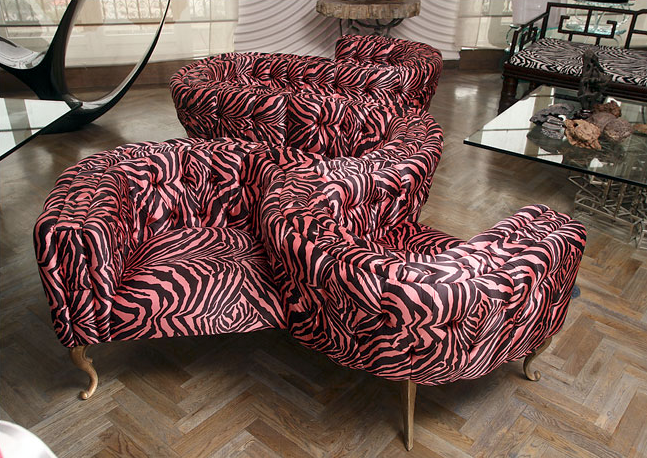 Mark Brazier-Jones's love seats. Credit: Doug Kanter for The New York Times