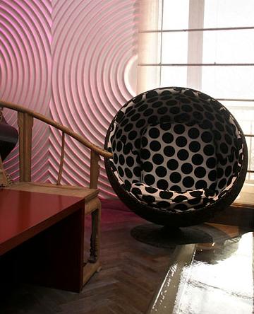 Eero Aarnio's Ball chair. Credit: Doug Kanter for The New York Times