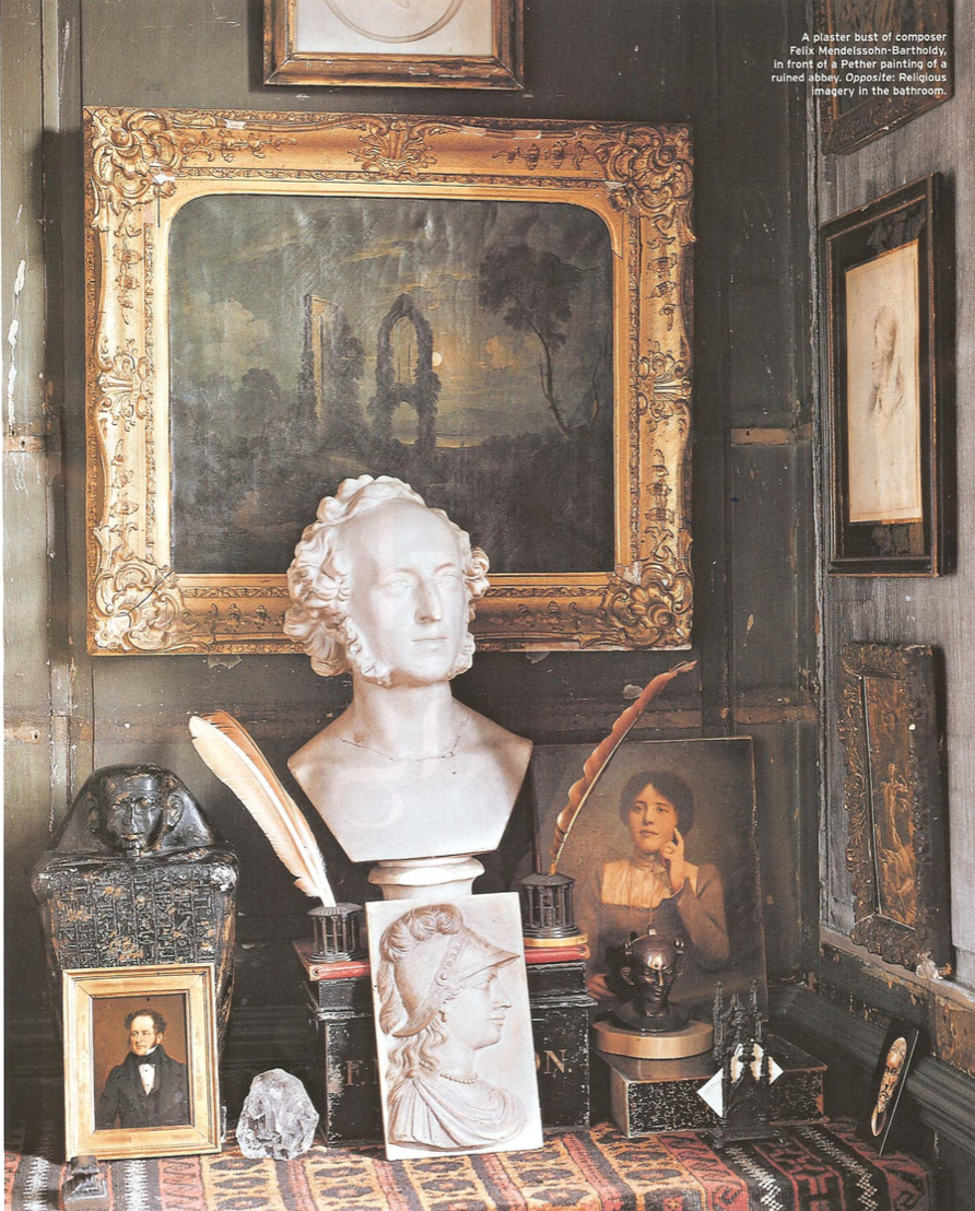 London's House of Wonders Malplaquet House photo by Derry Moore for Departures magazine, article by Christopher Mason