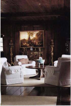 Woody Brock's living room at Twin Quarries