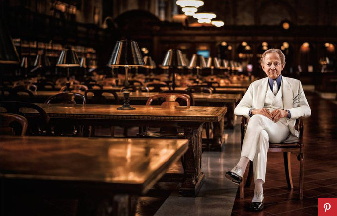 TOM WOLFE, SHOT FOR T&C BY MAX VADUKUL