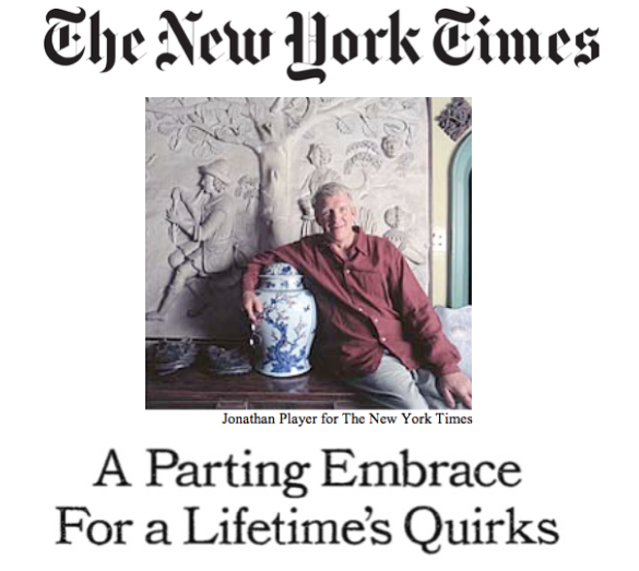 Christopher Gibbs New York Times Photo Jonathan Player for the New York Times, article  by Christopher Mason