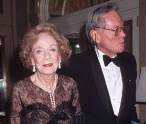 Brooke Astor with George Trescher. Photo: NewYorkSocialDiary