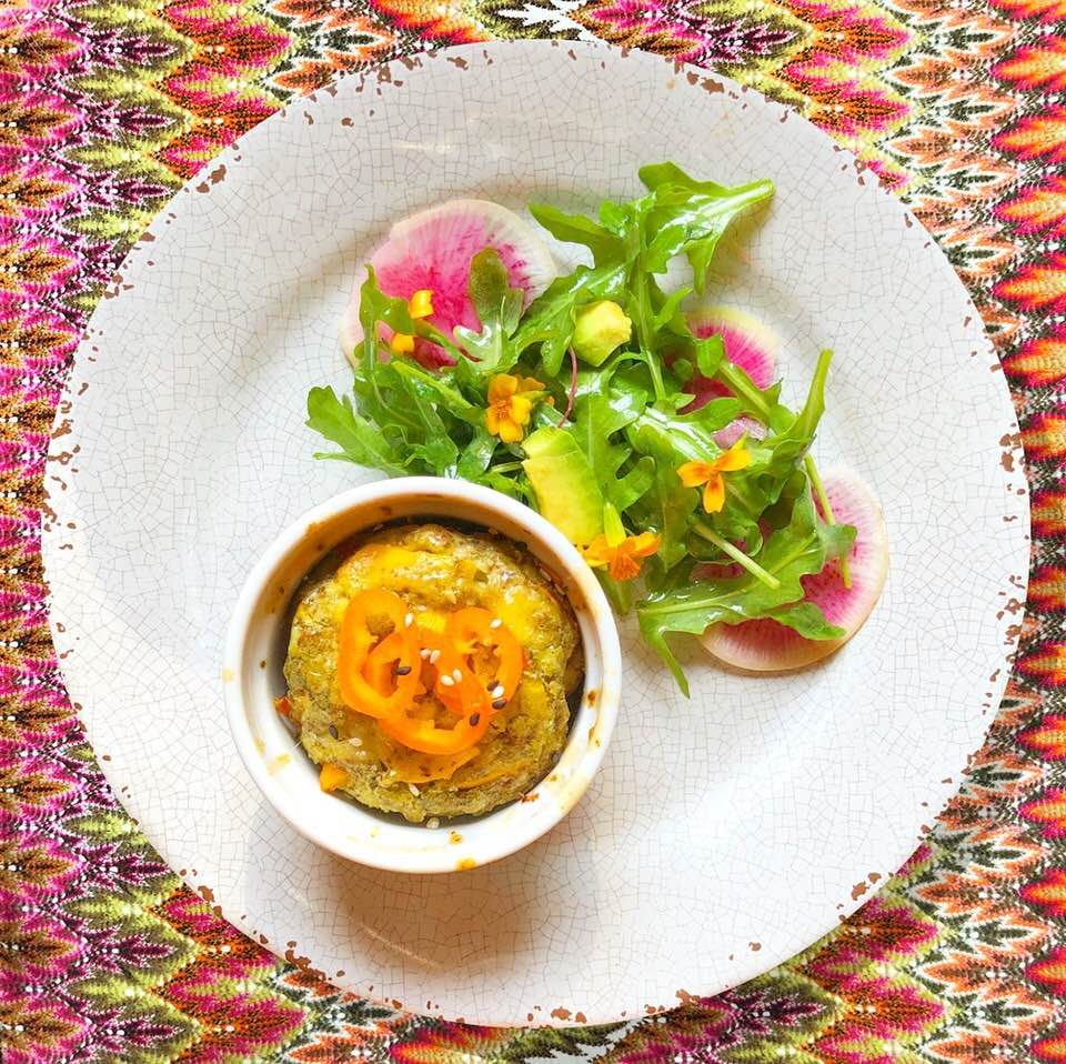 Corn frittata with watermelon radish salad.jpg