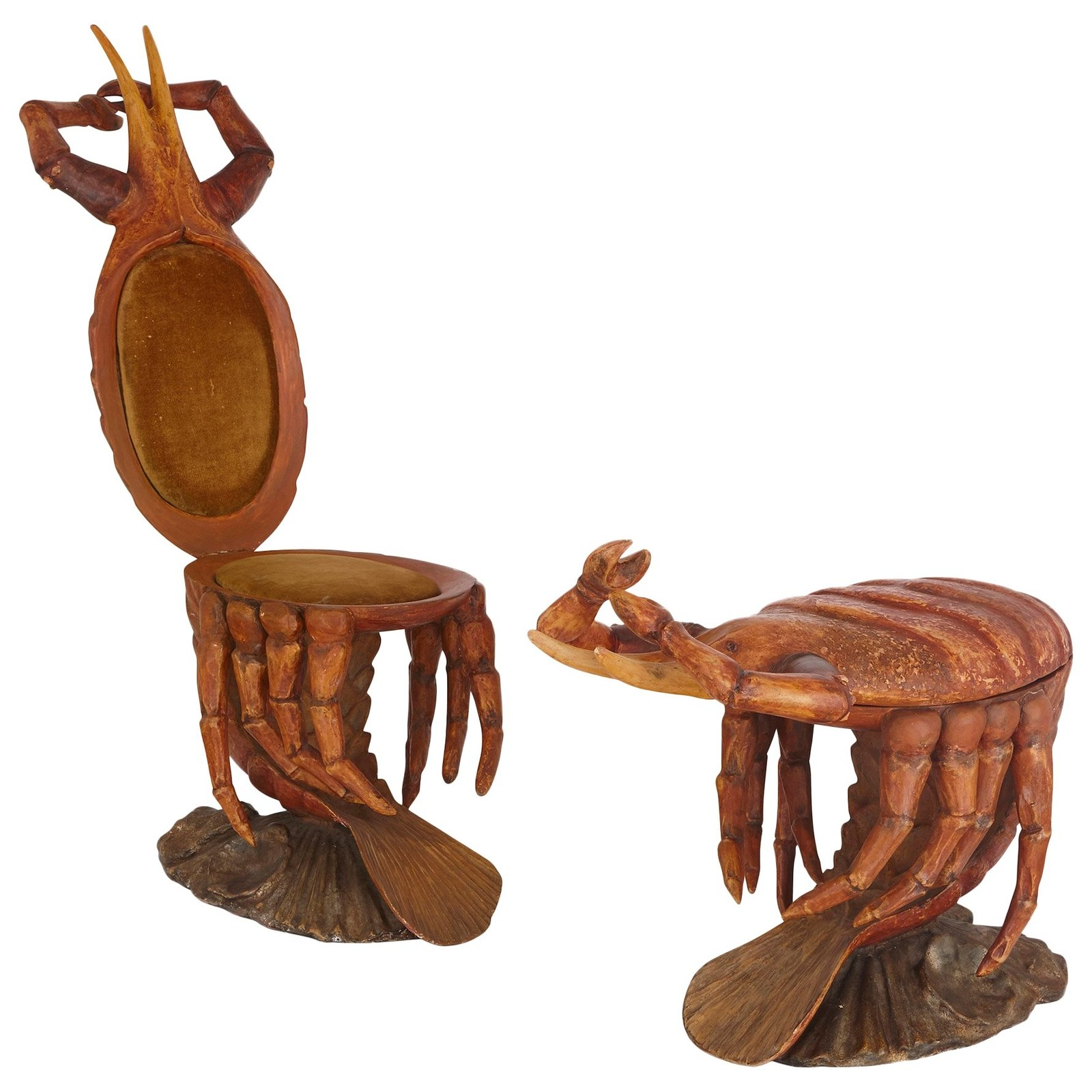 "Crab-Form ""Grotto"" Chairs, Attributed to Pauly et Cie, c. 1890.  Photo courtesy 1stdibs"