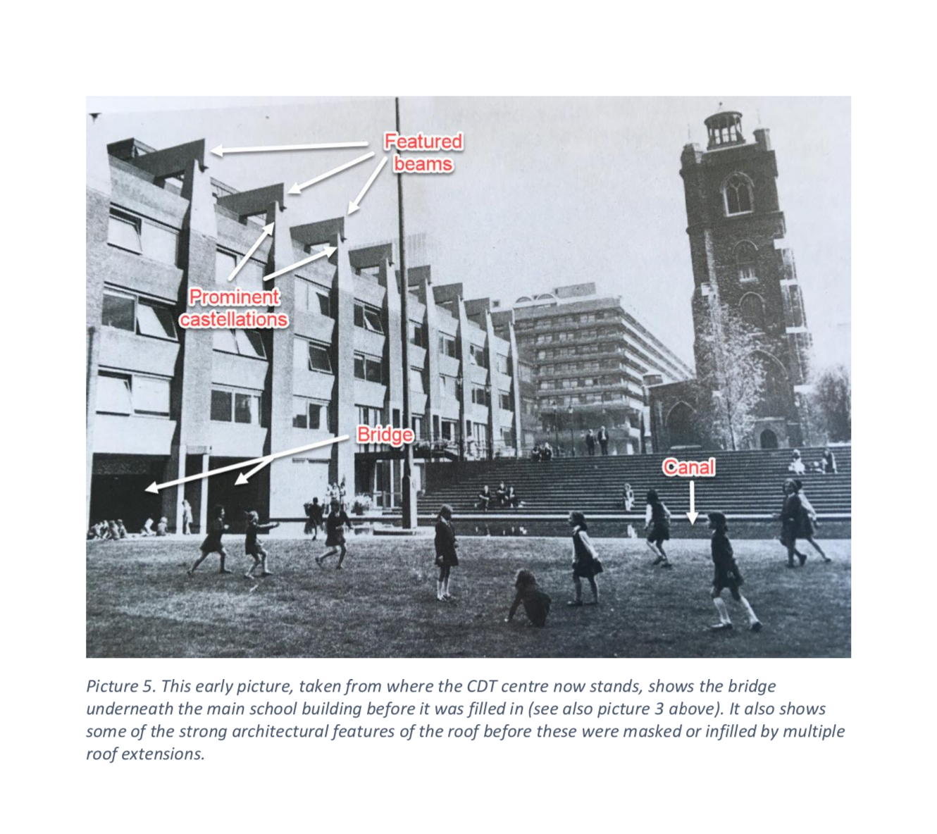 Click on the image above to read a history of the school's prior expansions