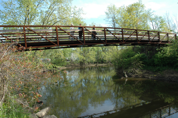 Headwaters Trail Bridge over the Cuyahoga River