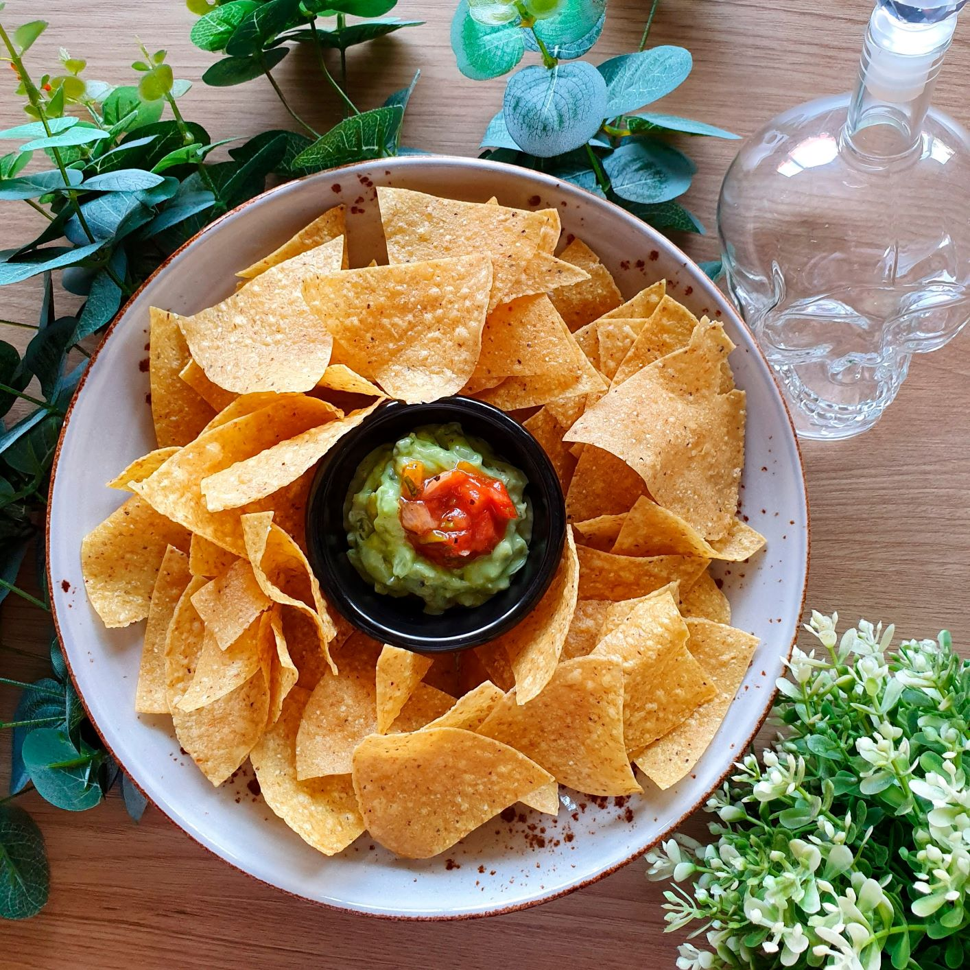 Free Nachos and Guacamole - Yes! It's just for you!