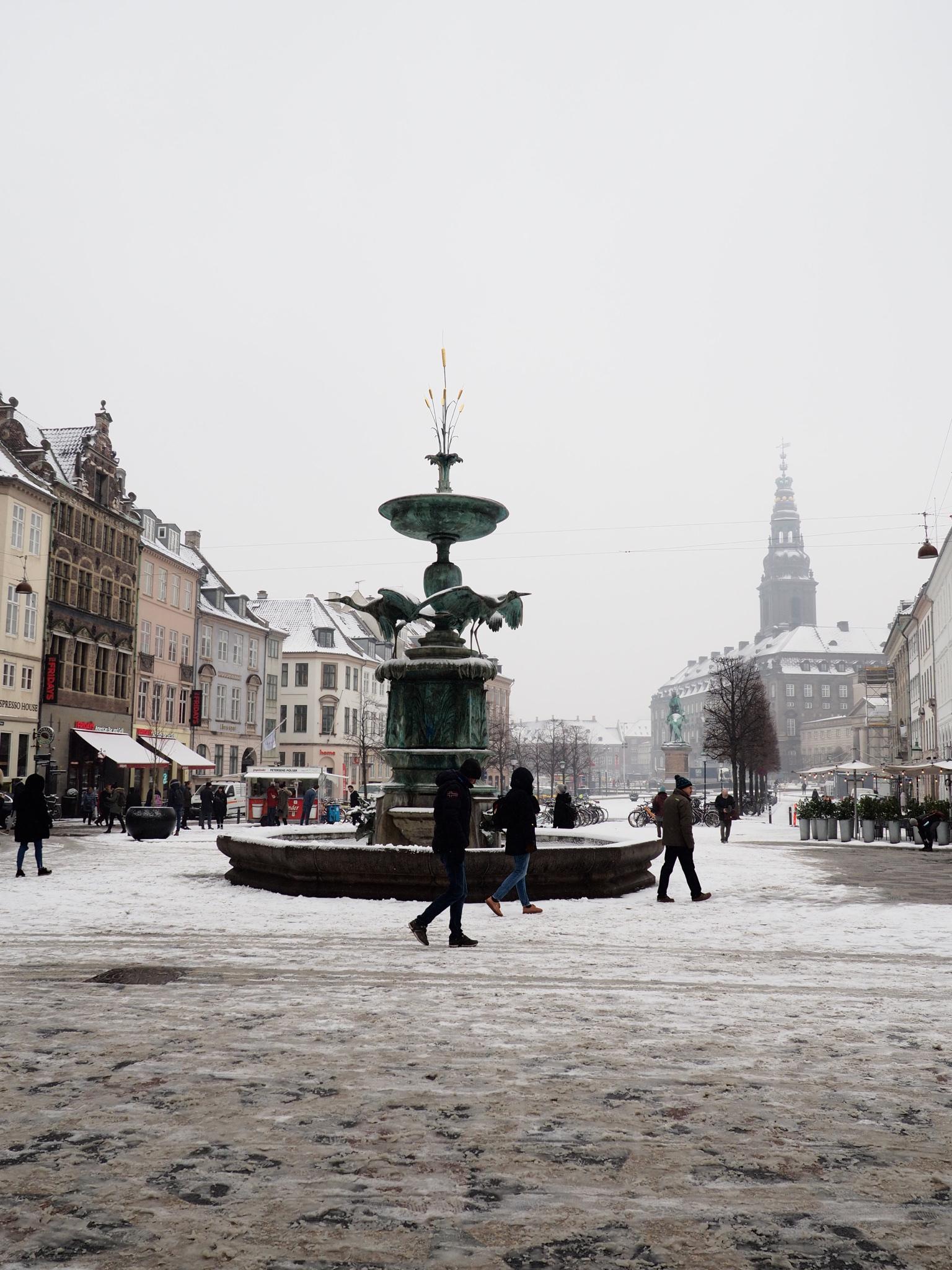 It snowed in Copenhagen during my stay