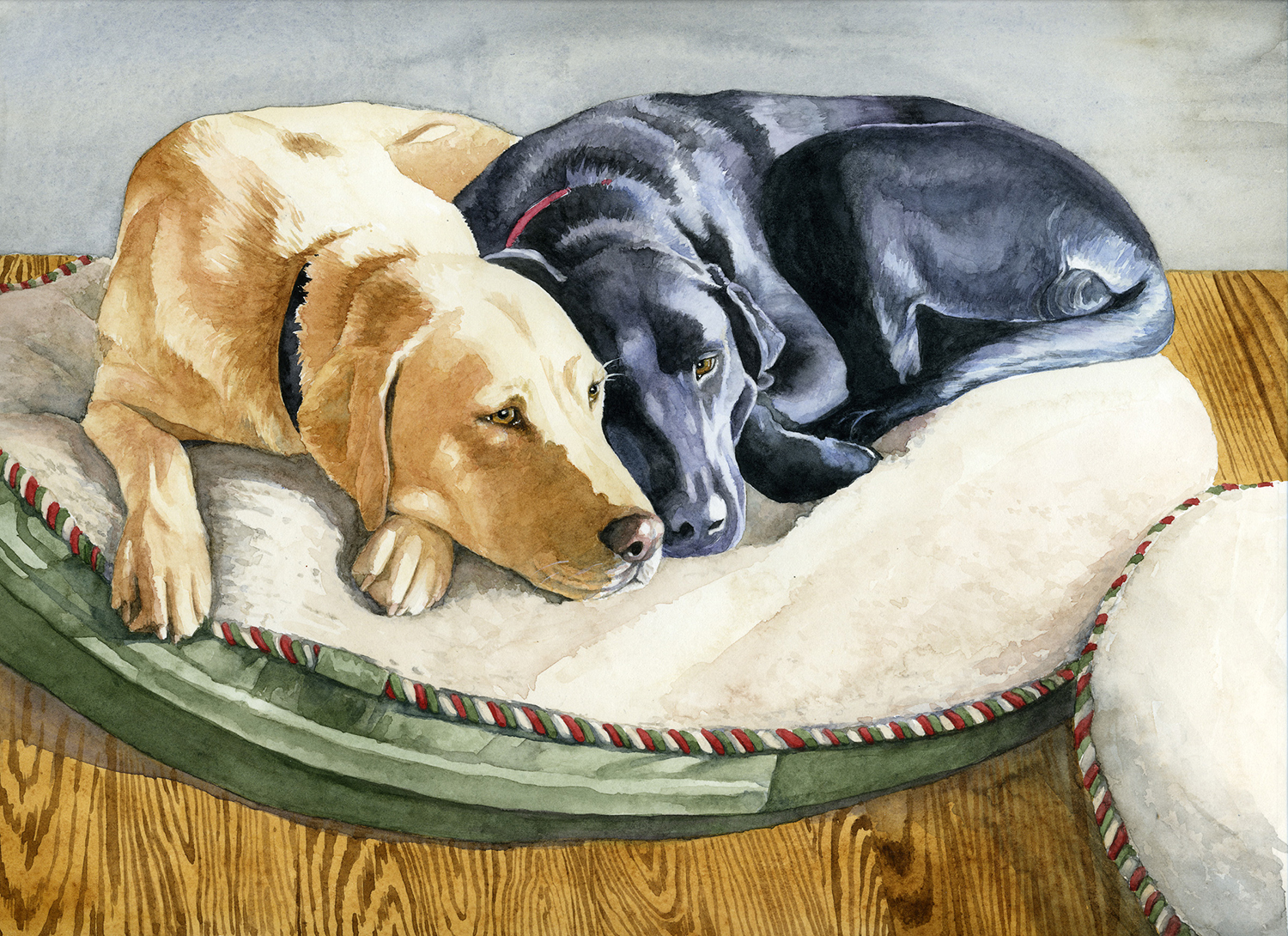 Buck and Tootsie 8 x 10 Watercolor