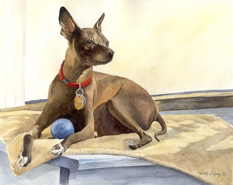Gizmo - 8 x 10 Watercolor