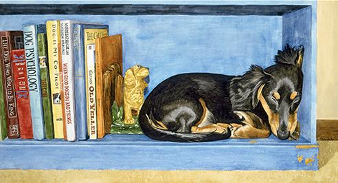 Little Bookworm - Watercolor