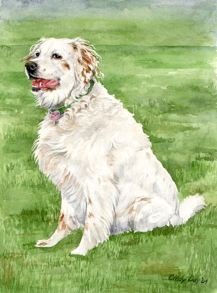 Olivia - 5x7 Watercolor