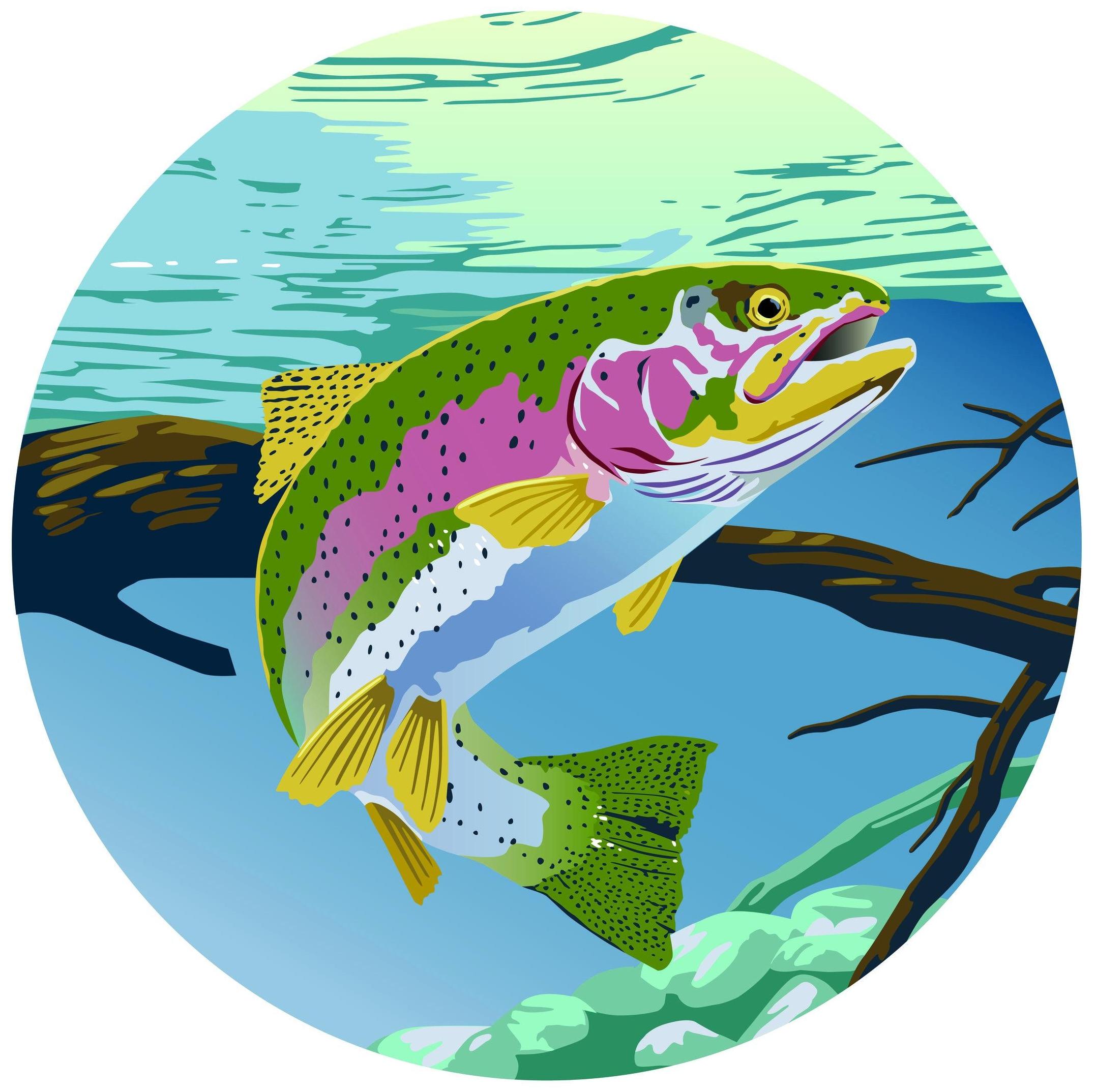 Computer Trout Illustration