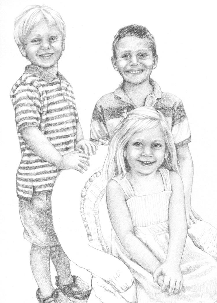 Children's Portrait - Pencil