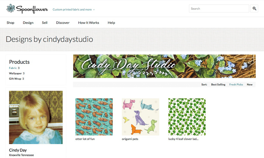Spoonflower - Custom printed fabrics and more.