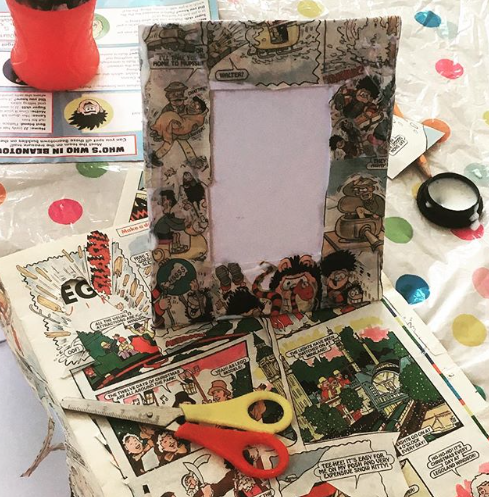 A series of Beano decoupage frames and mosaic tile workshops in Canning Town and Custom House  libraries  through the wonderful charity  Ingeenium .  These classes were such a delight to facilitate, children of all ages would come with their parents and work as a team to create their mosaic tiles and frames (lovely watching the interaction and quality time spent between the little ones and their parents).