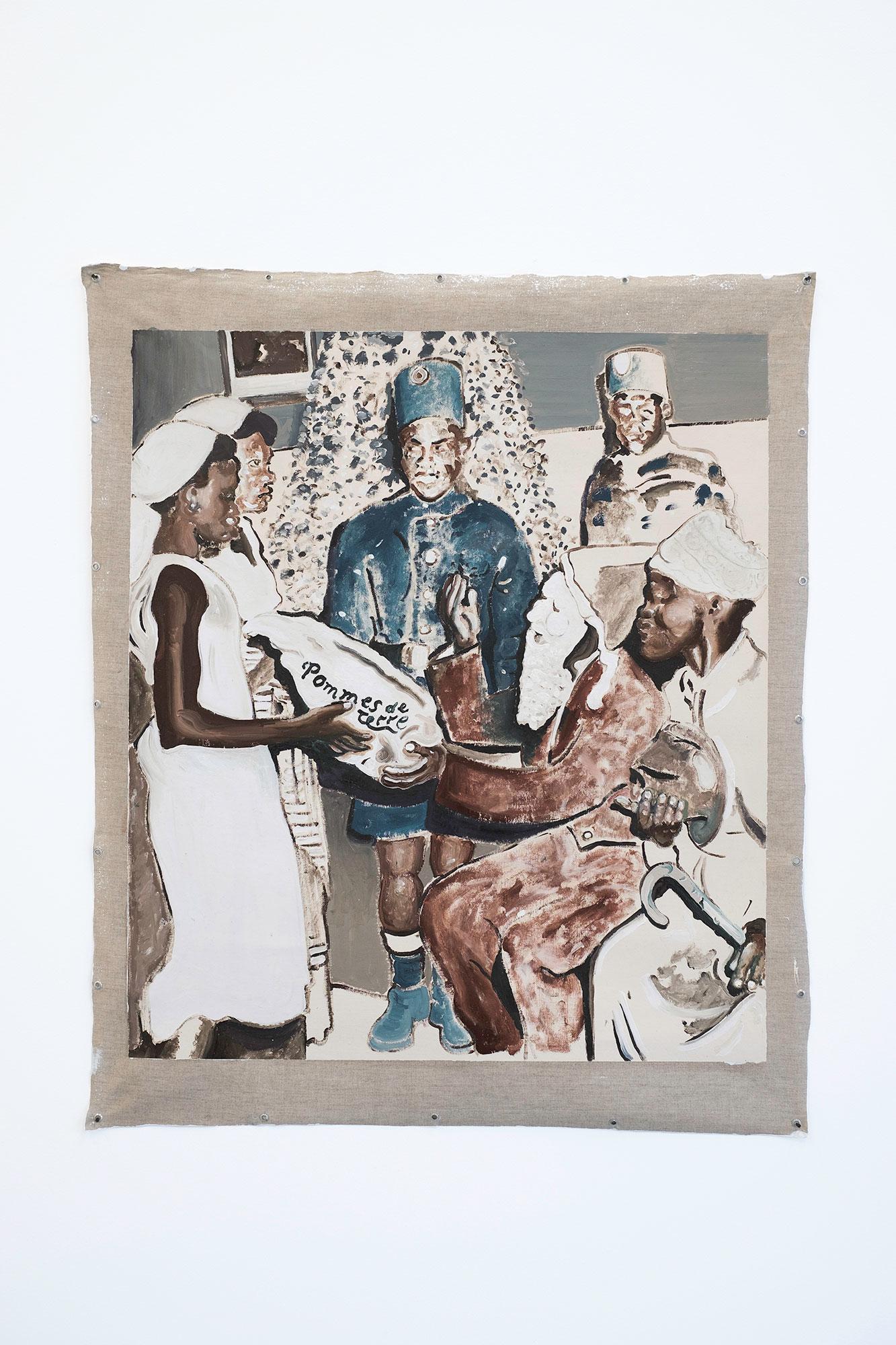 Koning Boudewijn Kijkt Toe Vanuit Zijn Hoek, 2017, Oil paint on unstretched canvas, 105x89,5cm.