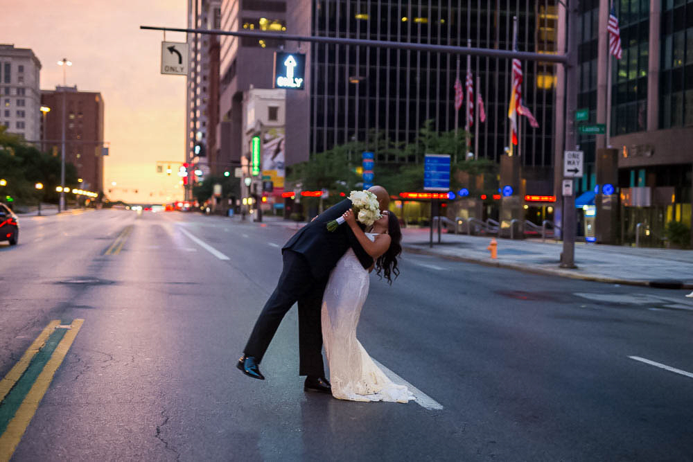 The rain - cleared just in time for a sunset kiss on Broad St.