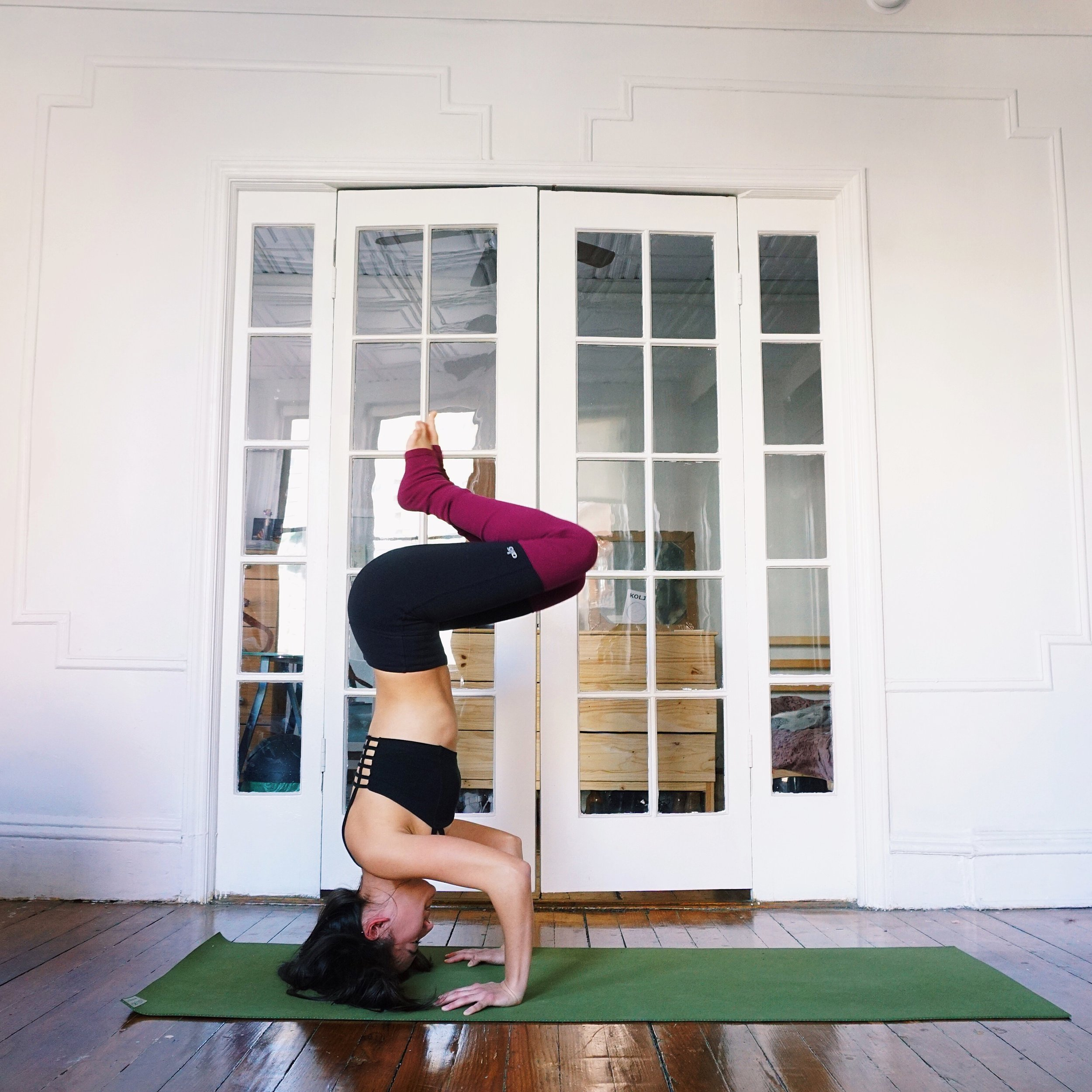 crow to headstand variation