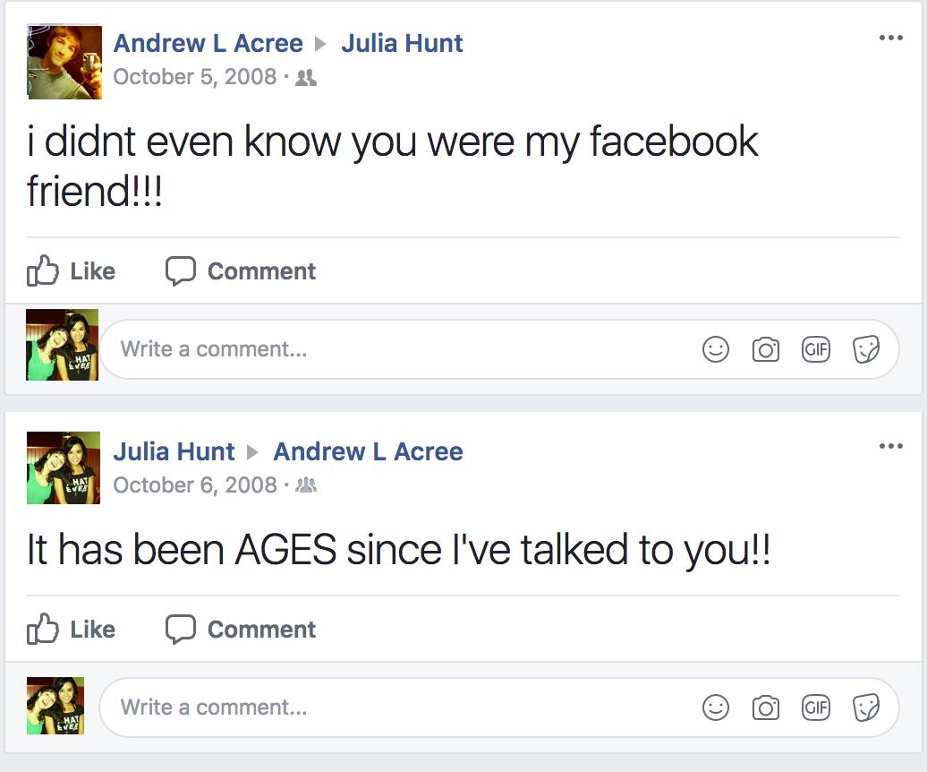golden birthday - facebook chat