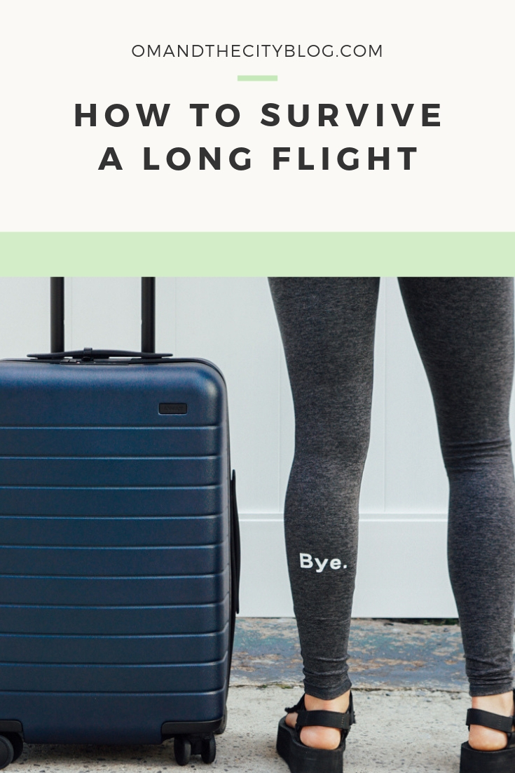 How to survive a long flight | If you're about to jet-set to a far-away international destination, read this post before you go! I'm sharing my best travel tips for long flights -- aka how to survive a ridiculously long flight and arrive at your destination still feeling somewhat like a human. Tried and tested on a 25-hour flight to Bali! | Om & The City Blog #omandthecity #travel #traveltips #longflights