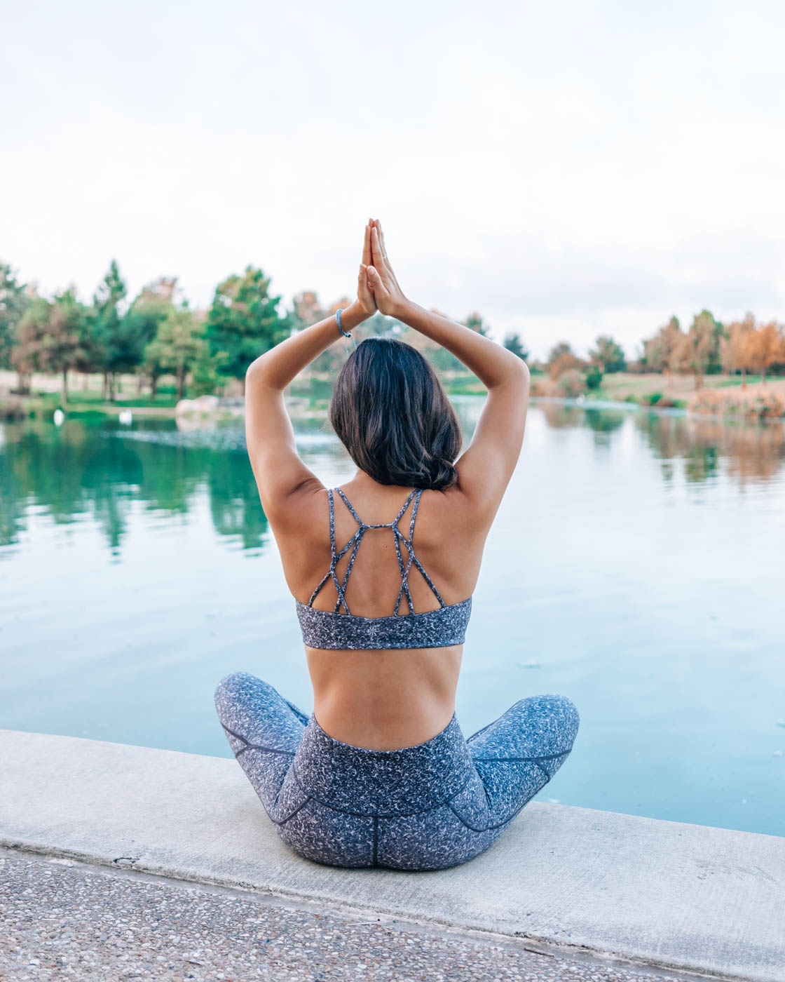 How My Yoga Practice Has Evolved Over the Years | In this post, I share how I found yoga, how it helped me and how it fits into my life today. As I reflect on this evolution, I feel immense gratitude. Just as yoga has been there for me, Athleta has been there since the beginning of my entrepreneurial efforts. Yoga is my foundation. I turn to my mat when I need to get out of my head. #yogaposes #yogainspiration #yogaoutfit #yogablogger #morningyoga #reflection #gratitudejournal #athleta