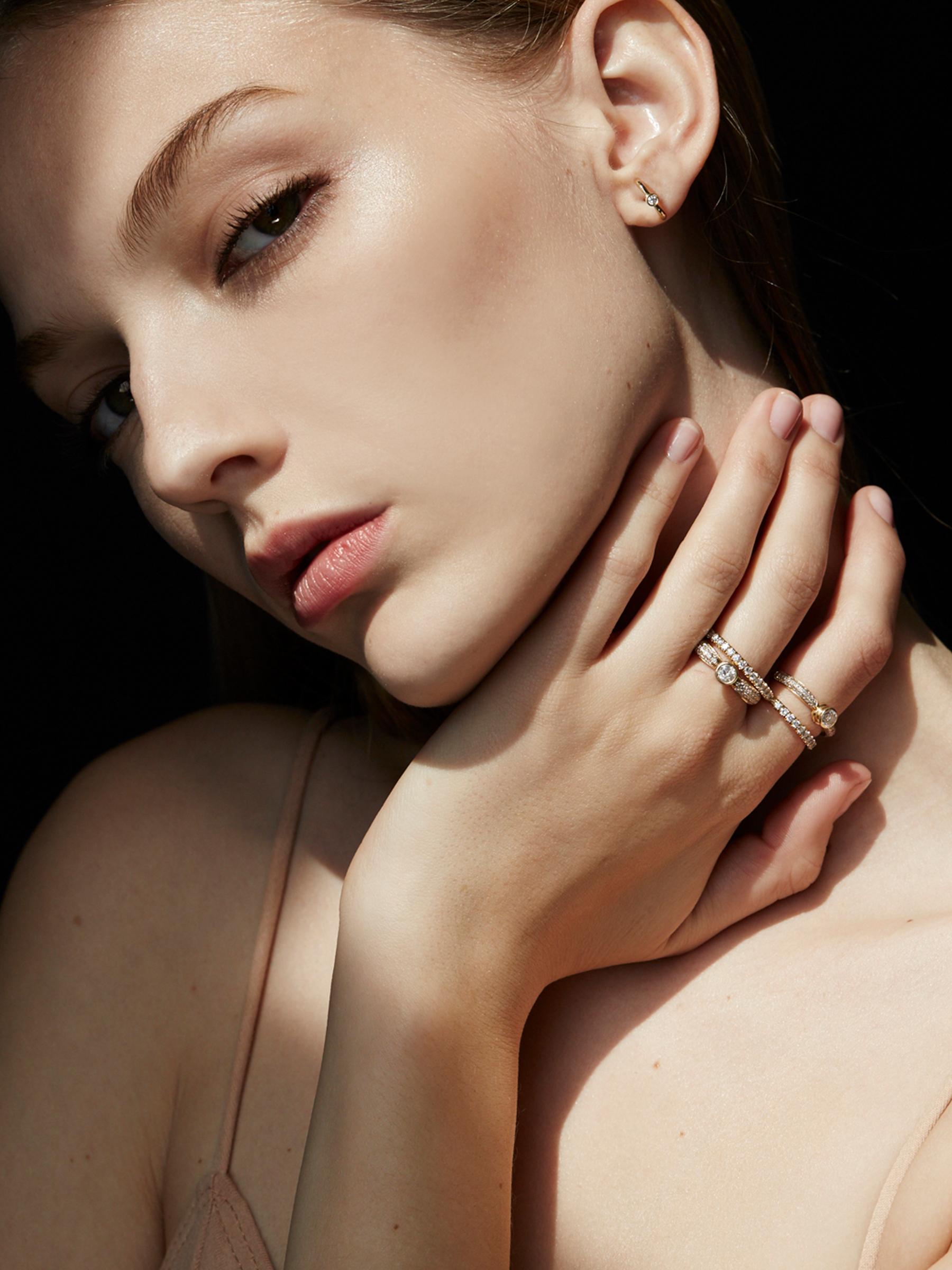 Éternal Diamond Pavé Ring    Éternal Double Pave´ Ring    Éternal Diamond Earring