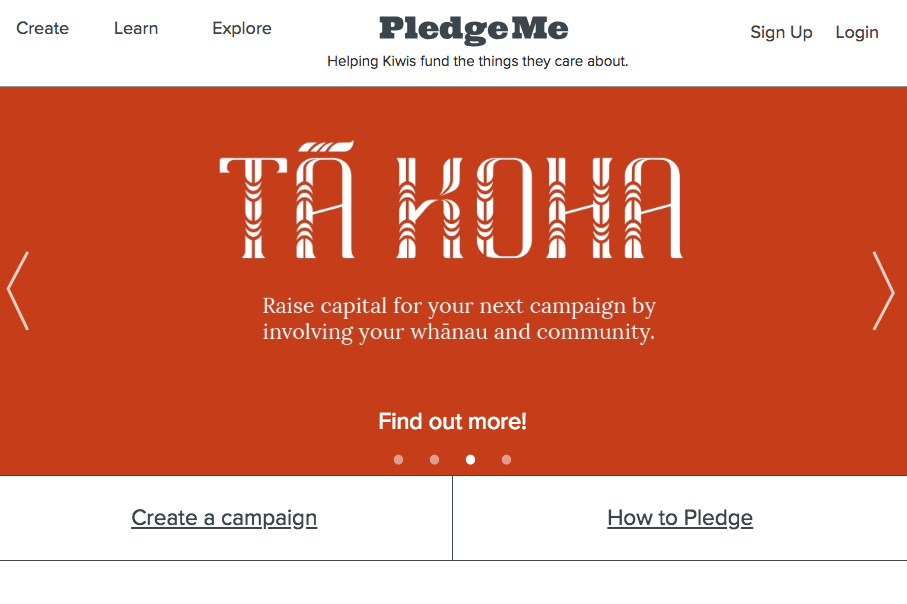 pledgeme homepage
